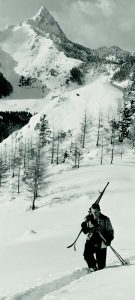 Skifahrer in den Karpaten