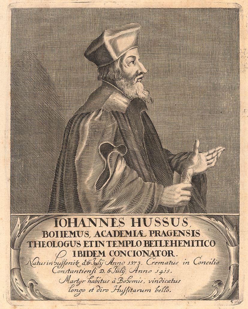 Jan Hus (1373-1425), böhmischer Reformator, Bildarchiv Inv.-Nr. 249902