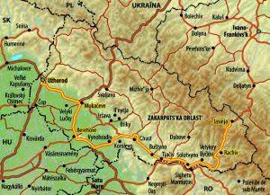 Reise durch die Zakarpats'ka Oblast', Karte: Marc Friede