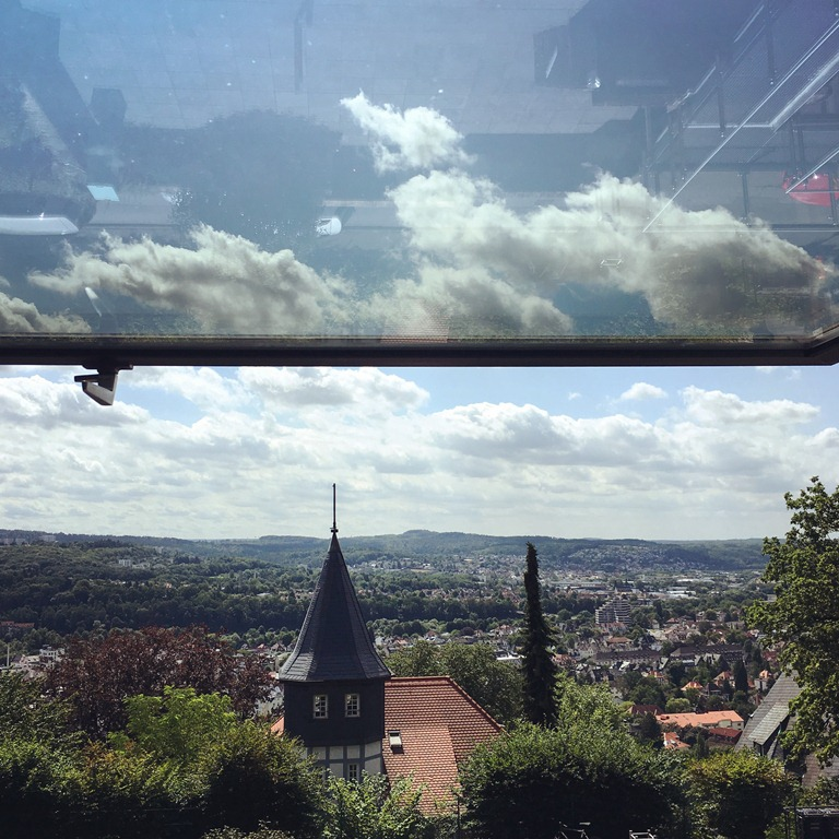 View over Marburg from the Herder Institut's Foyer