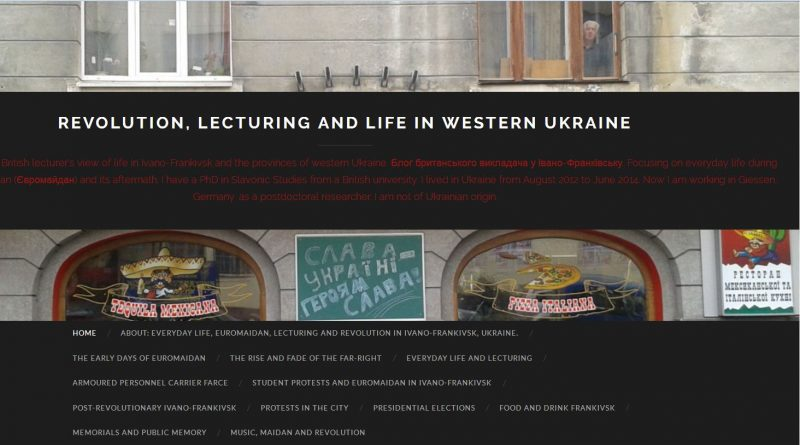 "Paul Vicker's ""Revolution, Lecturing, Life in Western Ukraine"""