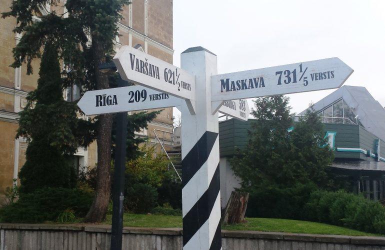 Wegweiser in Daugavpils
