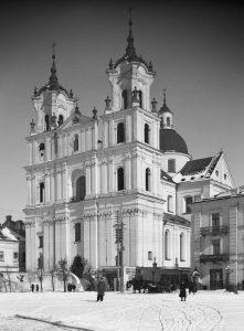 Katholische Kirche Sankt Franz Xaver in Hrodna/Grodno/Гродна (Weißrussland), Foto von Henryk Poddębski, 1932