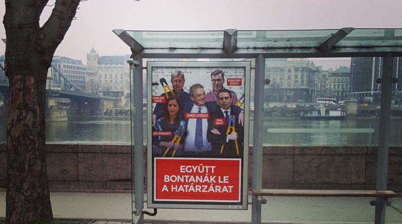 Kampagnen-Plakat in Budapest