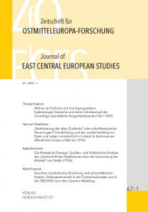 Zeitschrift für Ostmitteleuropa-Forschung