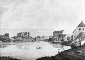 Ortsansicht von Hasenpoth im 19. Jahrhundert