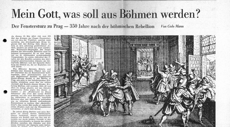 Zeitungsartikel: Mein Gott was soll aus Böhmen werden, Christ und Welt 1968