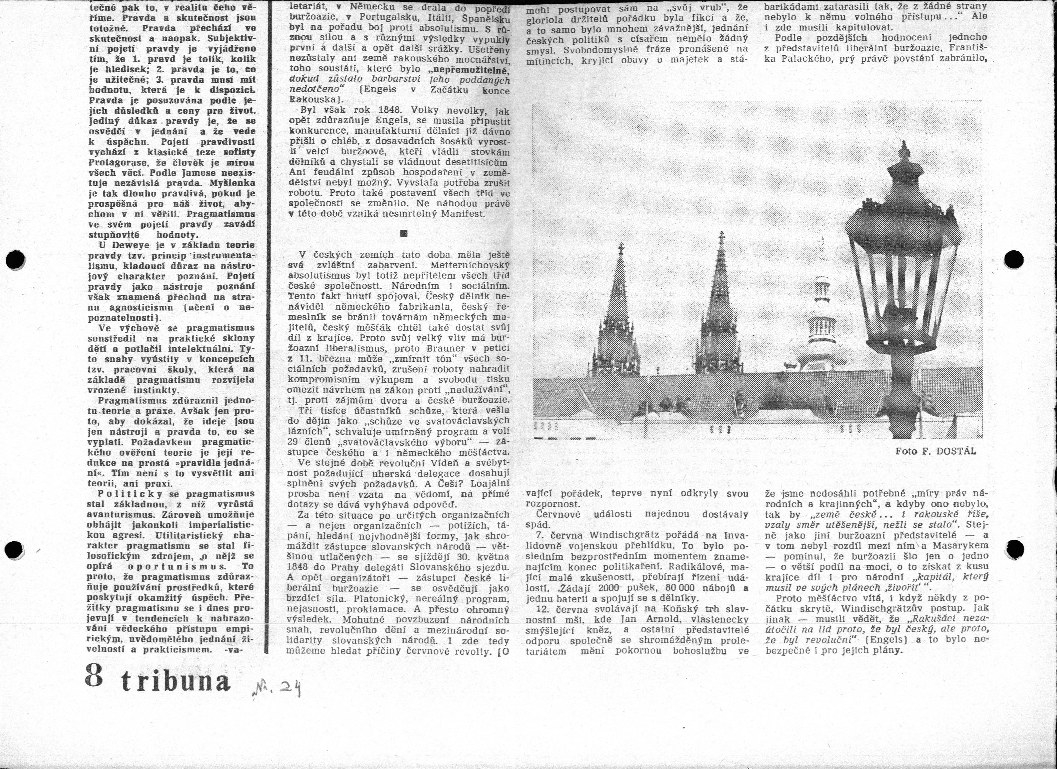 Zeitungsartikel: Revolution 1848 von Jaroslav Kojzar, Teil 2