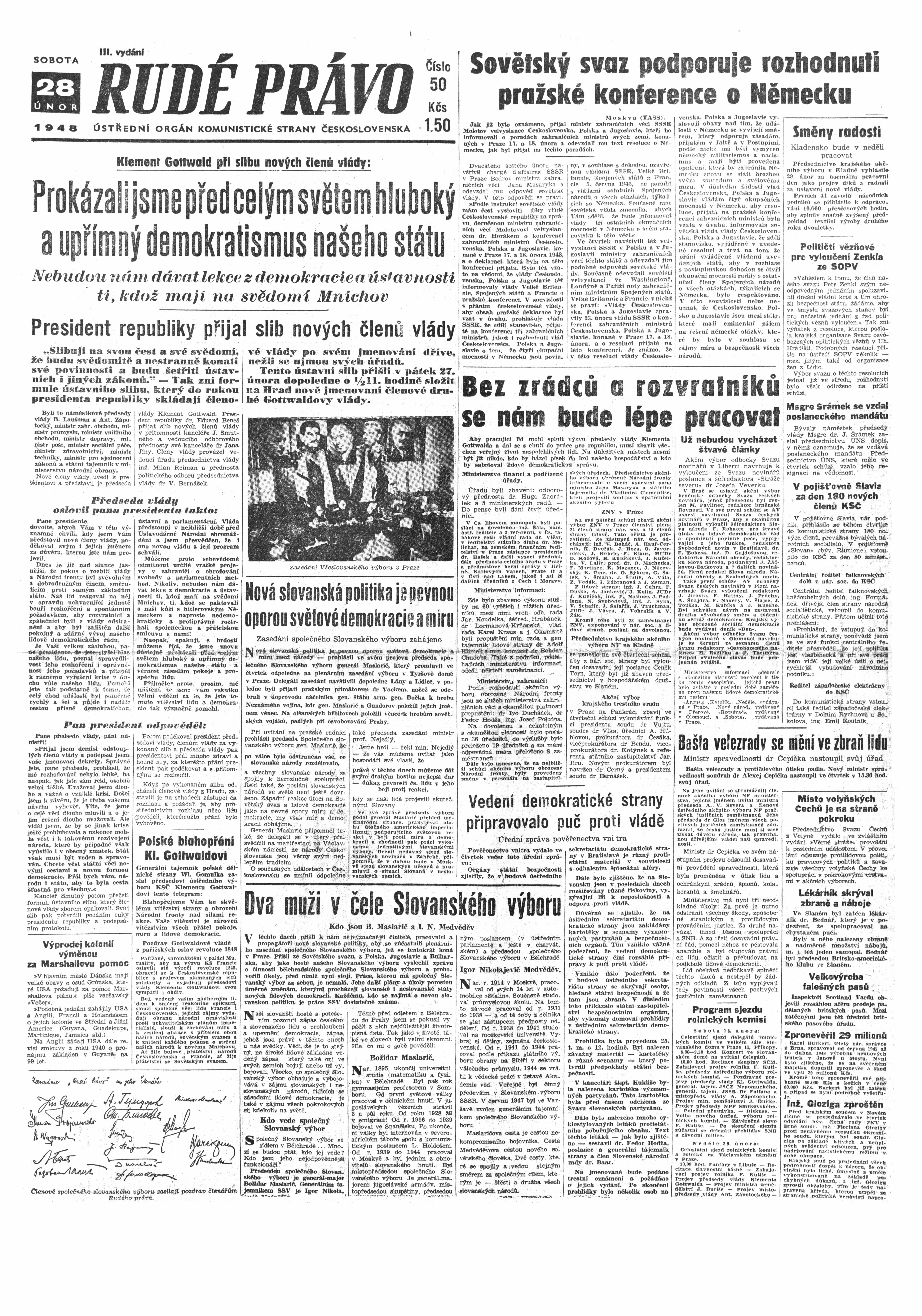 Rudé Právo 1948_28. Februar
