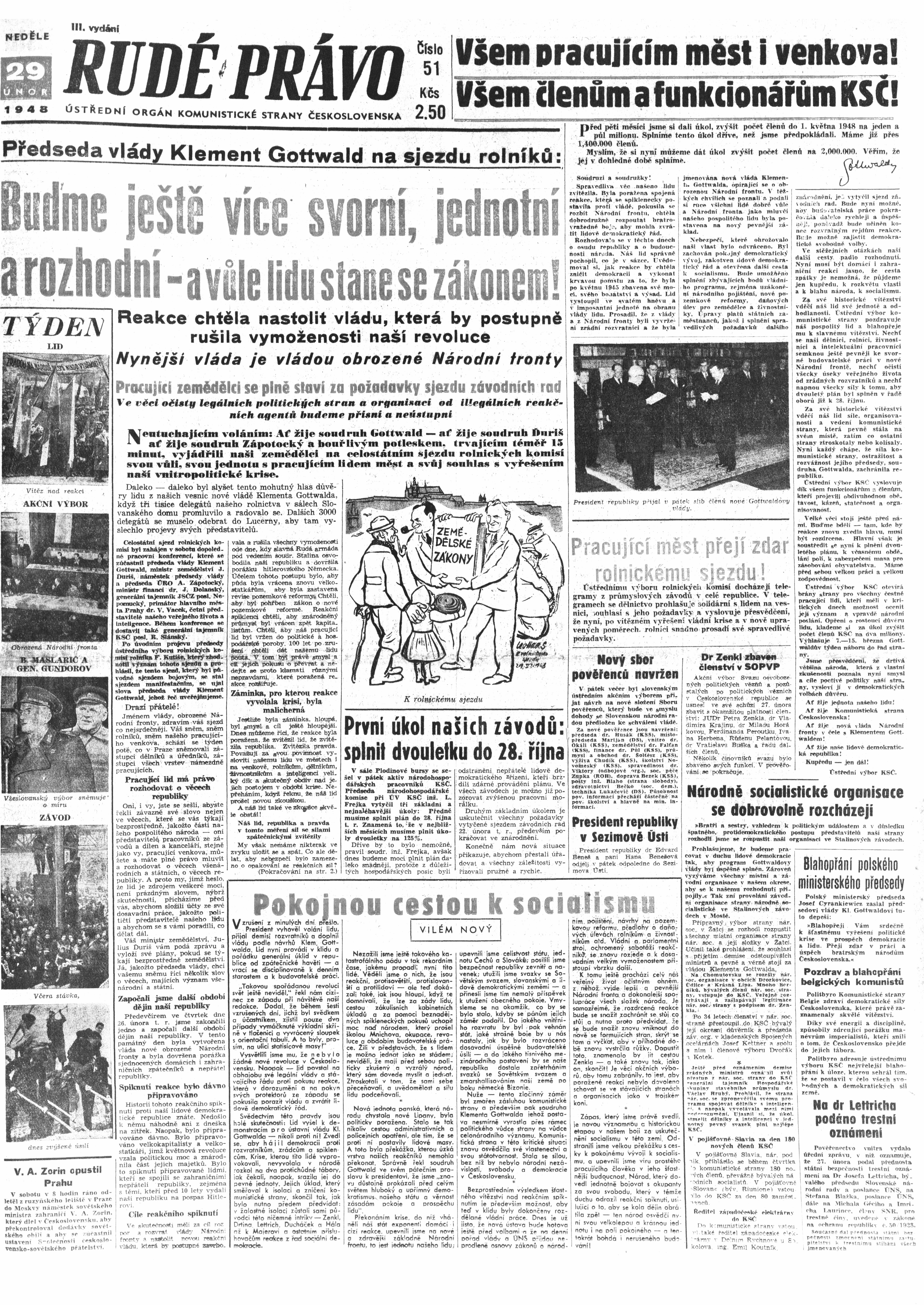 Rudé Právo 1948_29. Februar