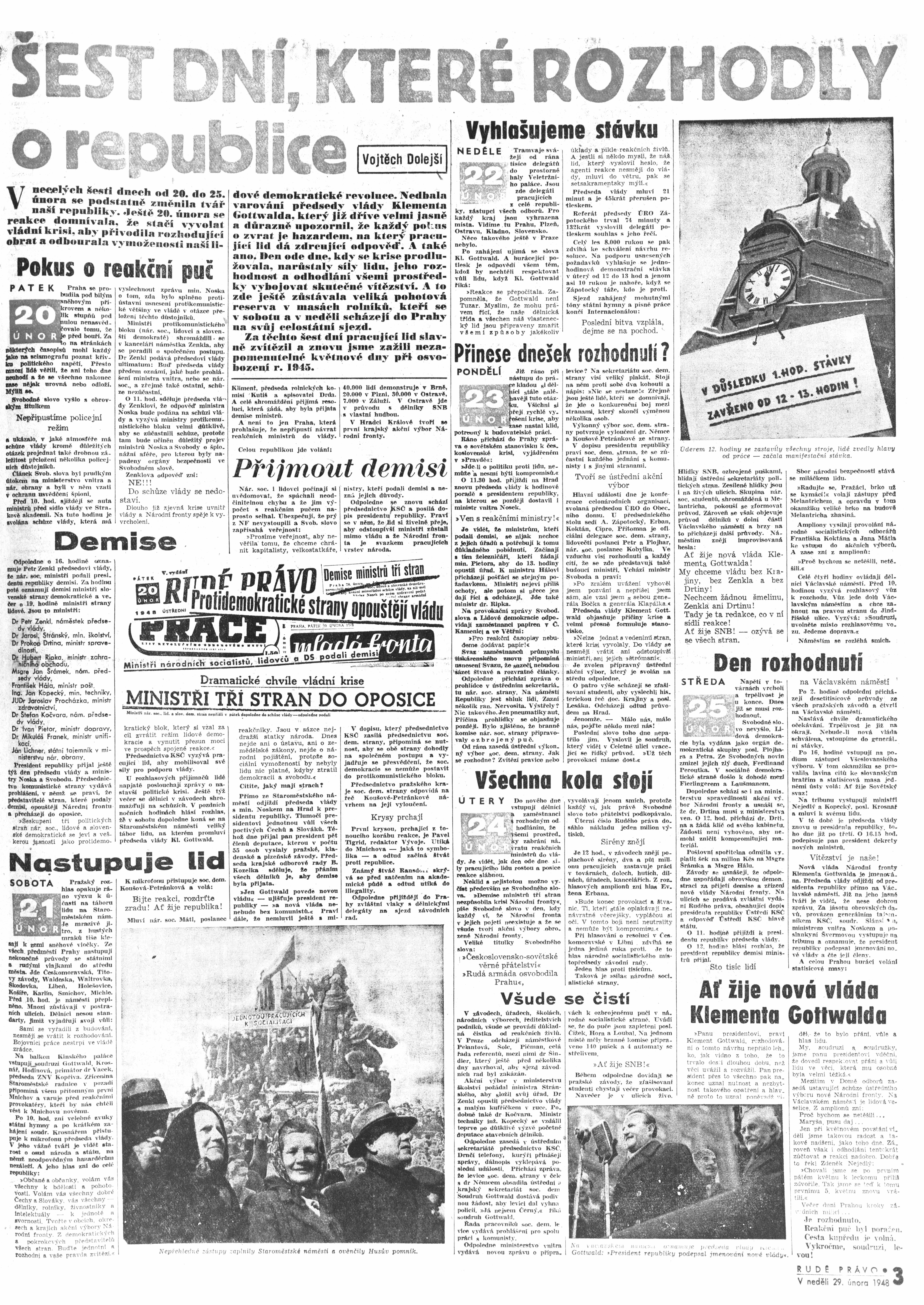 Rudé Právo 1948, 29. Februar, Seite 3