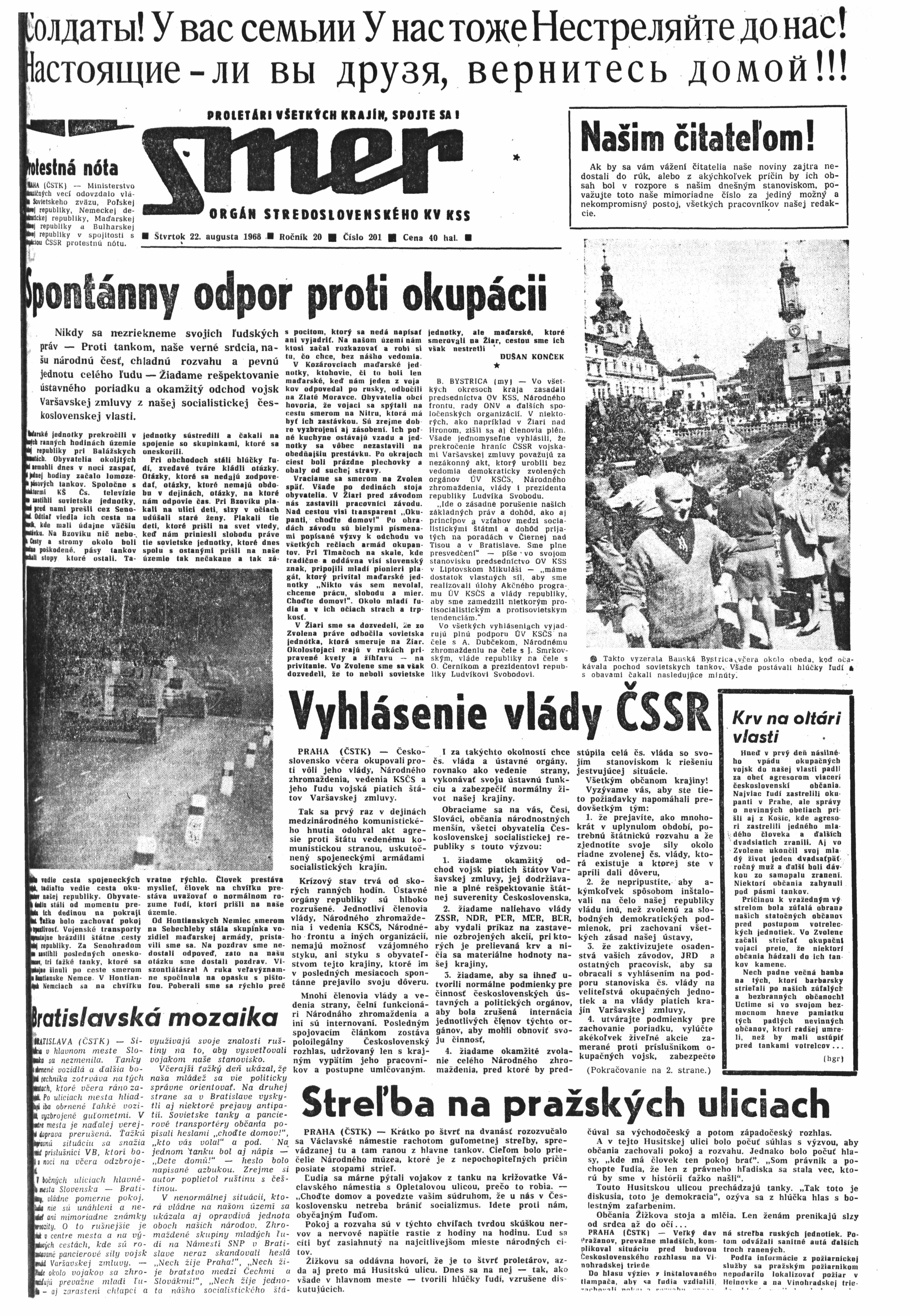 Smer 1968 22. August