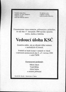 Ende der KP 1989