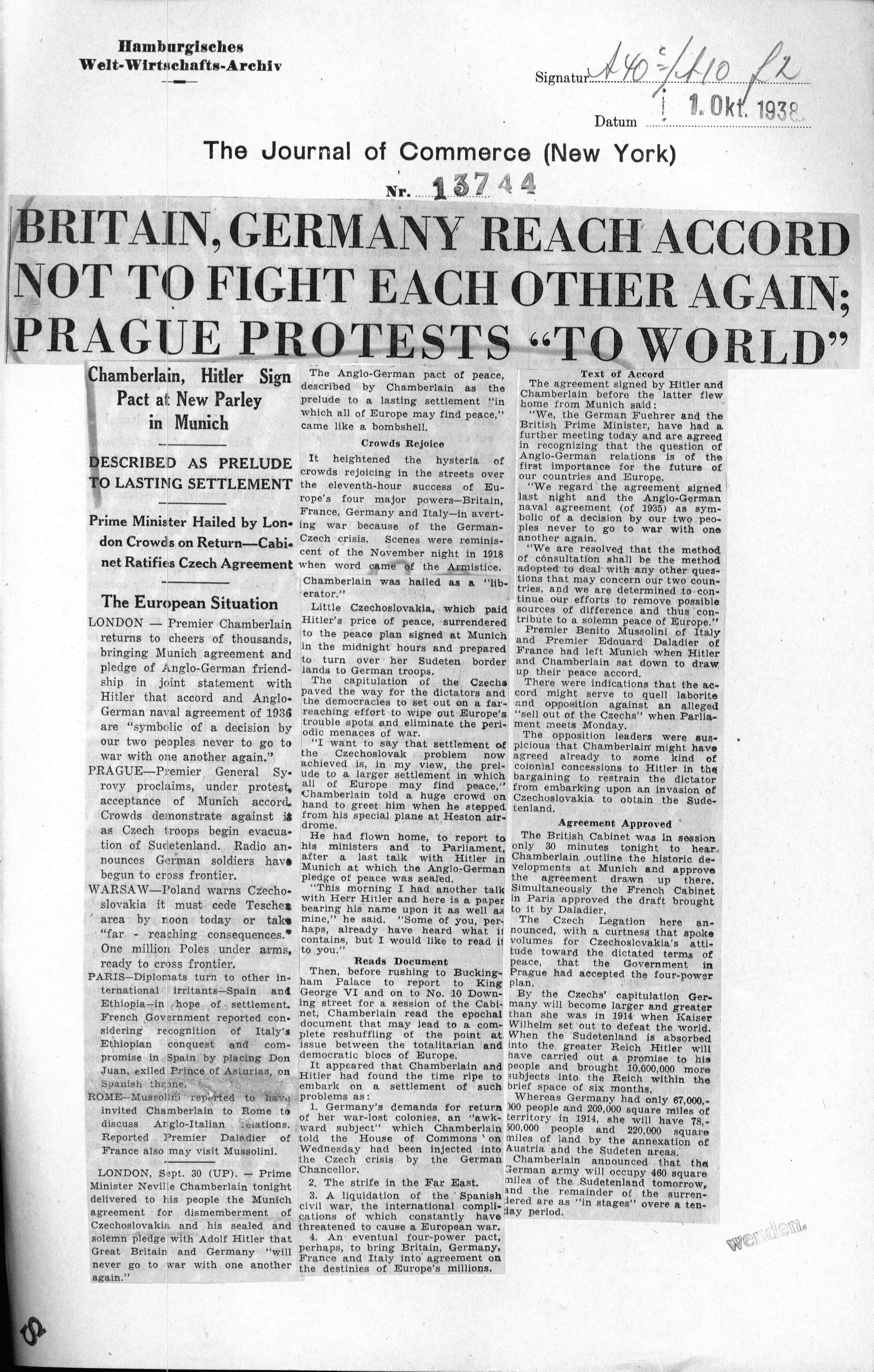 Journal of Commerce (New York) 1938