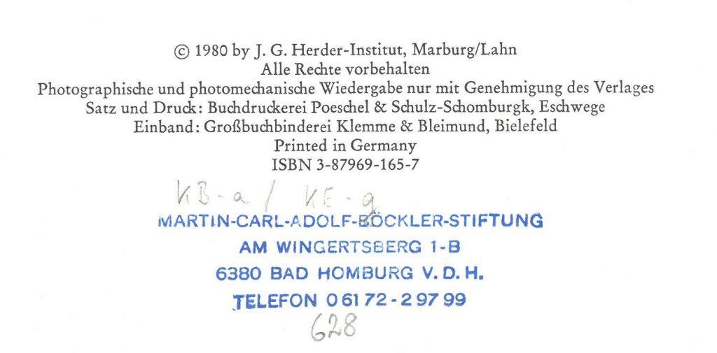 Bibliotheksstempel der Martin-Carl-Adolf-Böckler-Stiftung