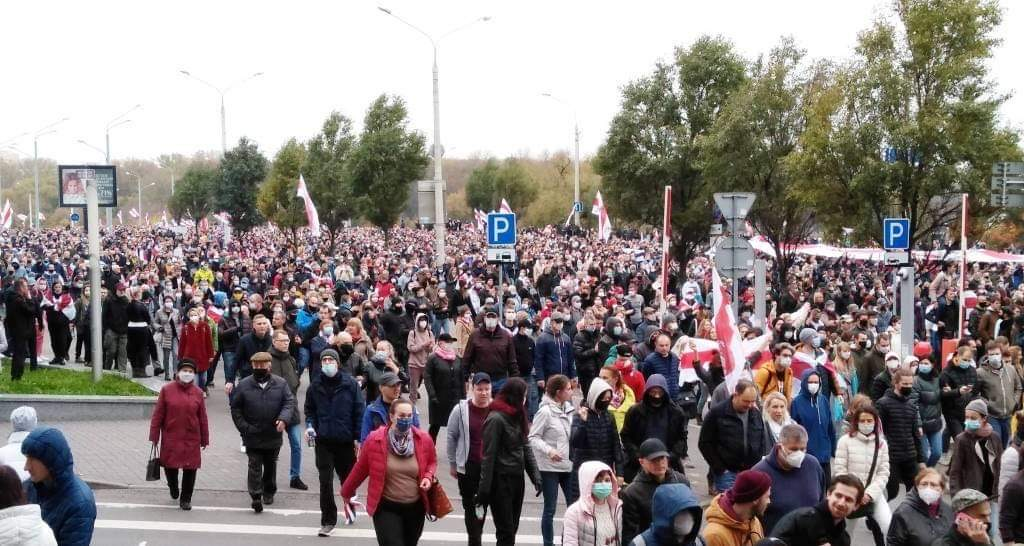 Peaceful Protests in Minsk 2020