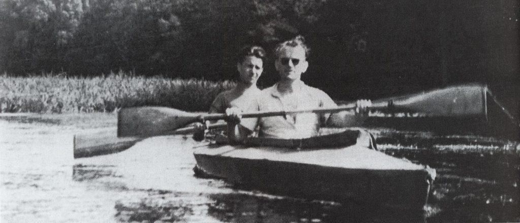 Karol Wojtyła auf Kajaktour mit Jugendlichen (1958)