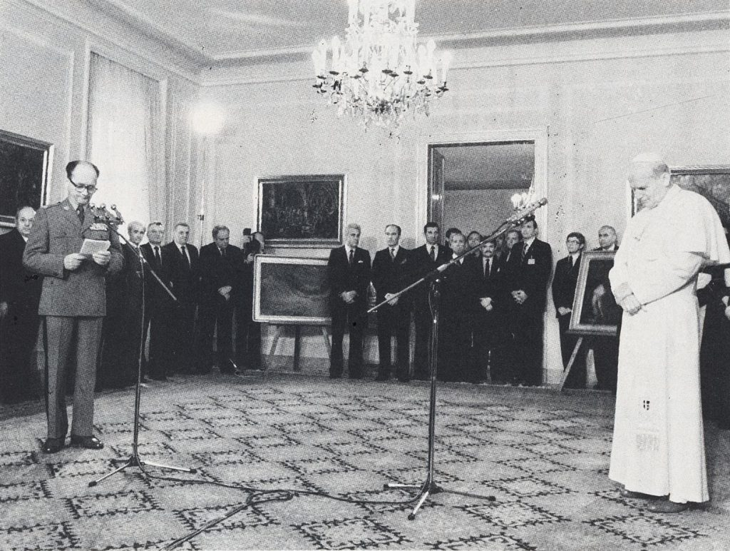 Offizielle Begrüßung durch Wojciech Jaruzelski am 17.6.1983