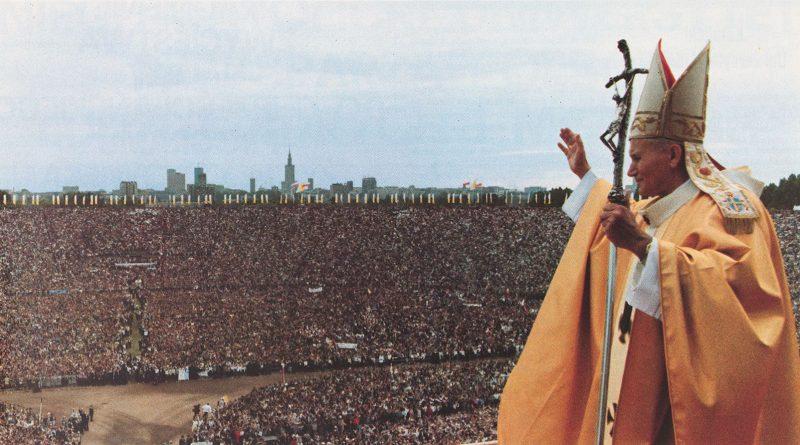 Messe im Warschauer Stadion am 17. Juni 1983