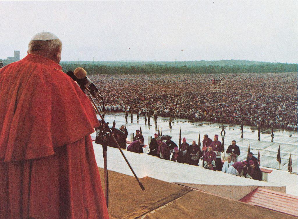Johannes Paul II. in Kattowitz am 20. Juni 1983