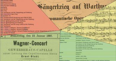 Richard Wagner: Tannhäuser - Noten, Konzertprogramm, Katalogeintrag, Datensatz. (Lizenz CC0)