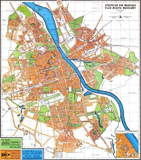 Warszawa Ostatnie Spojrzenie Plan Miasta Warszawy